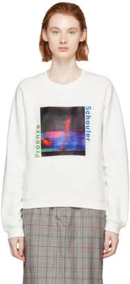 Proenza Schouler White PSWL Twister Print Sweatshirt