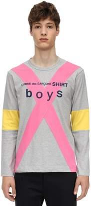 Comme des Garcons Patchwork Cotton Jersey T-shirt