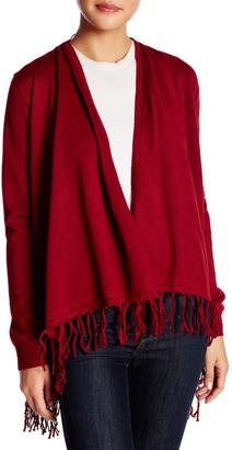 JOSEPH A Knit Fringe Cardigan $68 thestylecure.com