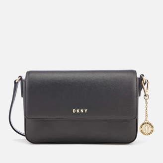 DKNY Women's Bryant Medium Sutton Textured Leather Flap Cross Body Bag