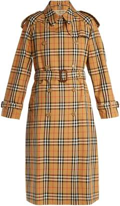Burberry Eastheath Vintage-check trench coat