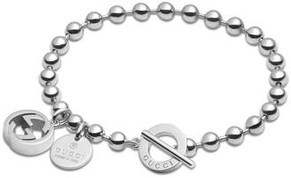 Gucci Jewel Bracelet Boule Gg In Rhodium Plated 925 Silver