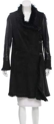 Karl Donoghue Knee-Length Shearling Coat
