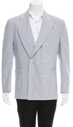 Kent & Curwen Double-Breasted Seersucker Sport Coat w/ Tags