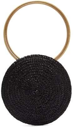 Eliurpi - Circle Mini Woven Straw Bag - Womens - Black