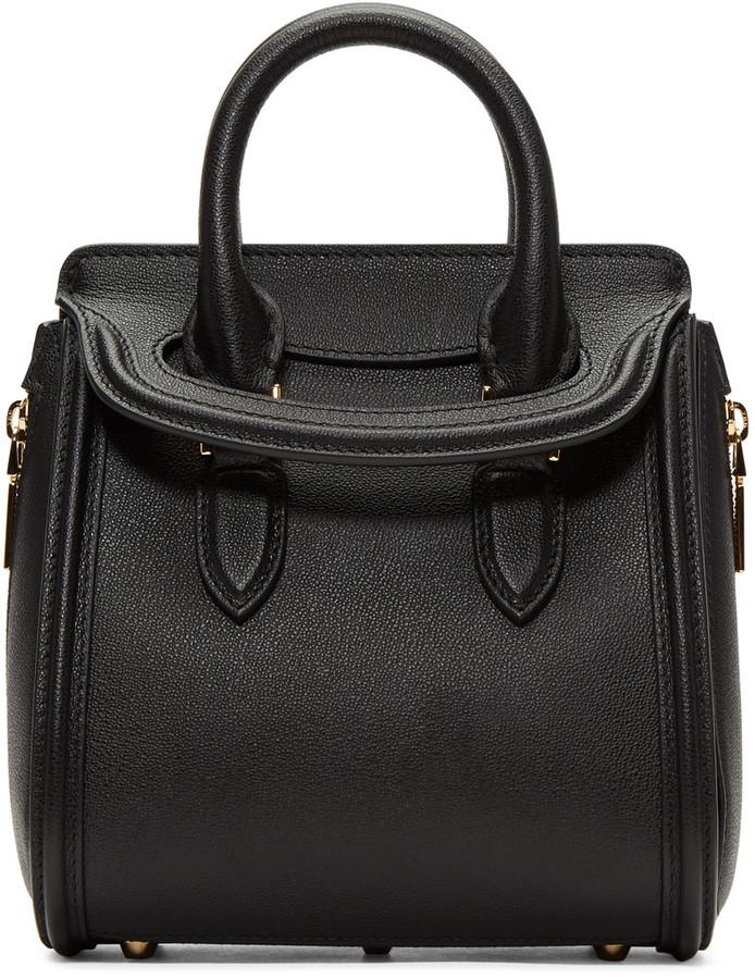 Alexander McQueenAlexander McQueen Black Mini Heroine Bag