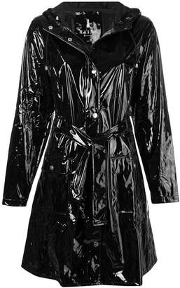Rains glossy belted coat