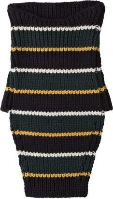 Prada horizontal stripes tube scarf