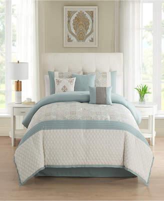 Sanders Amarie 7 Piece Jacquard Comforter Set Queen