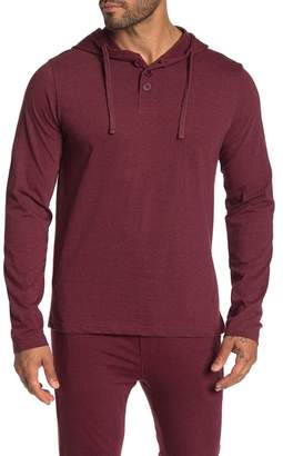 Unsimply Stitched Super Soft Long Sleeved Henley Hoodie