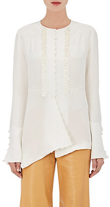Derek Lam Women's Tassel- & Loop-Trimmed Silk Blouse $1,395 thestylecure.com