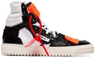 Off-White black, white and orange off-court 3.0 leather sneakers