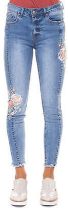 Dex Vintage Floral Embroidered Skinny Jeans