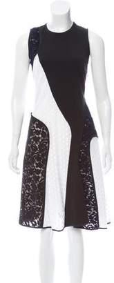Derek Lam Lace-Paneled Sleeveless Dress w/ Tags