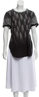 3.1 Phillip Lim Semi-Sheer Embellished Blouse Black Semi-Sheer Embellished Blouse