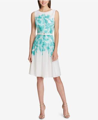 Tommy Hilfiger Floral-Printed A-Line Dress