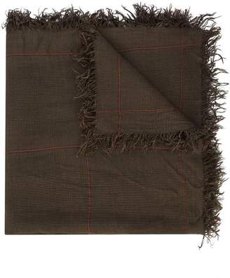 Faliero Sarti checked frayed edge scarf