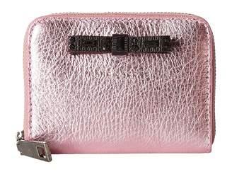 Marc Jacobs Metallic Bow Zip Card Case Credit card Wallet