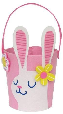 Spritz Easter Pink Felt Bunny Basket