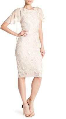 Marina Lace Ruffle Popover Dress