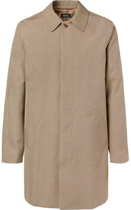 A.P.C. Findon Puppytooth Cotton-Blend Coat