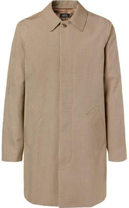 A.P.C. Findon Puppytooth Cotton-Blend Coat - Tan