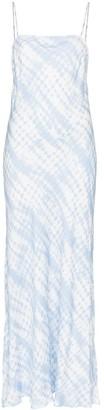 STAUD printed spaghetti strap maxi dress