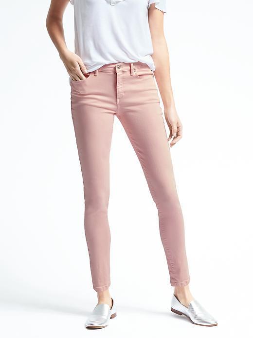 Banana Republic Pink Skinny Crop Jean