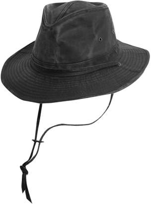 06a3c7a31ed Dorfman Pacific Dorfman-Pacific Weathered Cotton Outback Hat With Chin Cord