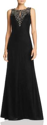 Adrianna Papell Embellished Velvet Gown