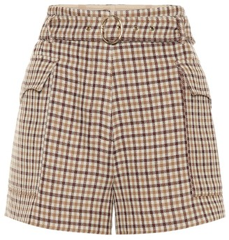 Nanushka Lucas high-rise wool shorts