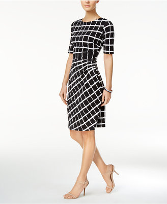 Connected Draped Printed Sheath Dress $69 thestylecure.com