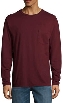 STAFFORD Stafford Long Sleeve Crew Neck Pocket T-Shirt - Big and Tall