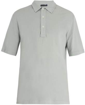 Thom Sweeney - Short Sleeve Cotton Jersey Polo Shirt - Mens - Grey