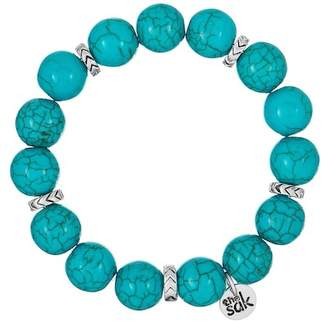 The Sak Simulated Turquoise Beaded Stretch Bracelet