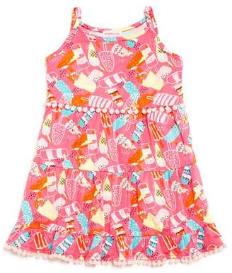 Design History Girls' Ice-Pop-Print Tiered Dress - Little Kid