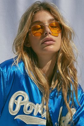 Urban Outfitters Far Out Translucent Metal Aviator Sunglasses $16 thestylecure.com