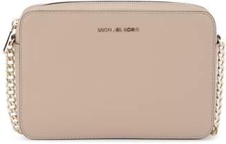 Michael Kors Jet Set Travel Truffle Saffiano Leather Shoulder Bag
