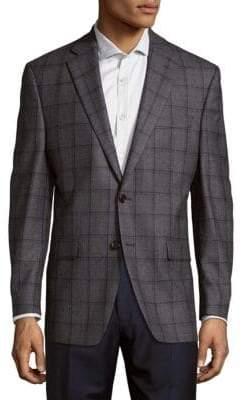 Lauren Ralph Lauren Wool Check Suit Jacket