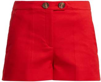 RED Valentino Mid-rise cotton-blend shorts