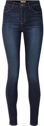 L'Agence Marguerite High-rise Skinny Jeans - Dark denim