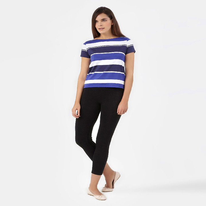 Petit Bateau Women'S Boat-Neck T-Shirt With Bayadere Stripes