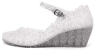 I Love Billy New Jellies Silver Glitter Womens Shoes Casual Shoes Heeled