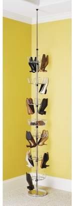 Whitmor Floor-To-Ceiling Shoe Spinner Chrome