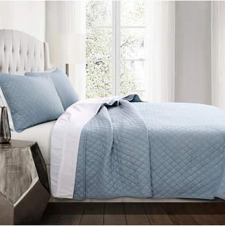 Lush Decor Ava Diamond Oversized Cotton 3-Piece King Quilt Set