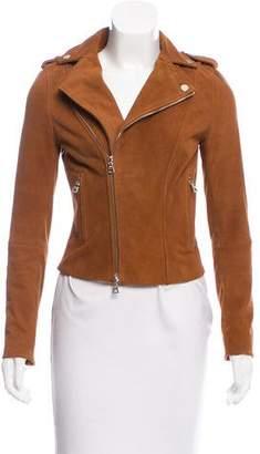 Intermix Suede Moto Jacket