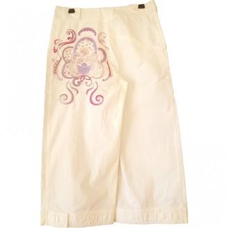 Christian Lacroix Ecru Cotton Trousers for Women Vintage