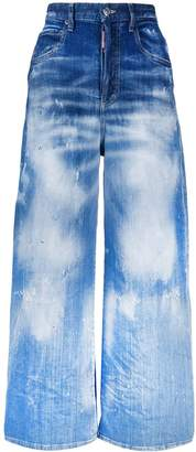 DSQUARED2 high-waisted wide leg jeans