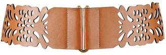 Kaleidoscope Wide Cut-Out Detail Stretch Belt