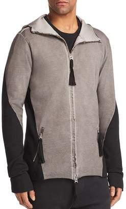 thom/krom Long Hooded Paneled Jacket